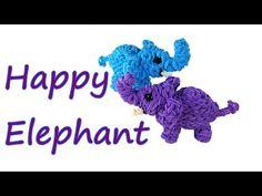 Happpy Elephant Tutorial by feelinspiffy (Rainbow Loom) - YouTube