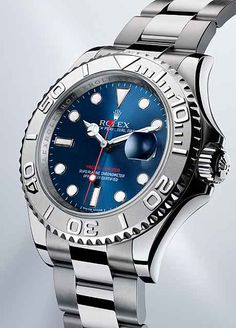 Rolex's Oyster Perpetual Yacht-Master, a sailors' watch introduced in 1992, undergoes a major facelift in 2012 in both its design and technology. The new model has an Oyster case made of a patented alloy called Rolesium, and a cool, blue dial with brushed sunray pattern.