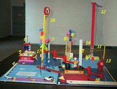 Rube Goldberg machines with each step detailed
