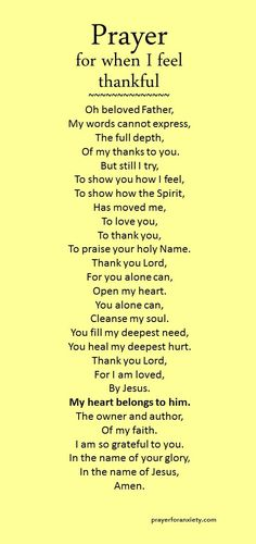 Prayer for when I feel thankful