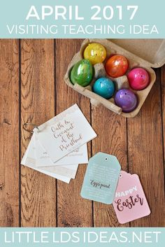 This April 2017 Visiting Teaching Idea and printables from Little LDS Ideas are perfect for this month's message. Free printables included! via @https://www.pinterest.com/littleldsideas/