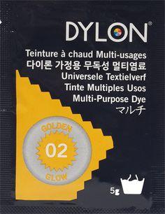 DYLON MULTI PURPOSE DYE 5 g  GOLDEN GLOW (02)