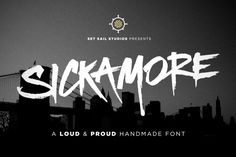 Sickamore is a powerful and edgy display font, great for headers, logos and attention-grabbing words or phrases.