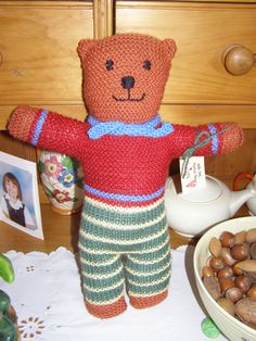 A smart bear waiting to be parcelled up and sent to America.