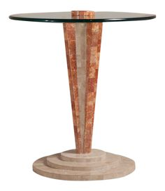 An Art Deco Style Tessellated Stone Pedestal Side Table on DECASO.com