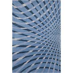 Cinzia Blue Abstract Area Rug