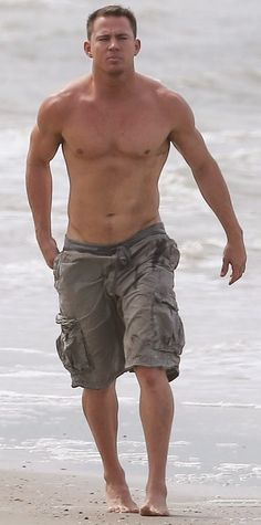 Channing Shirtless on the Beach