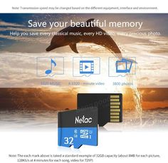 Netac P500 32GB UHS-I U1 Micro SD SDHC Card TF Card For Mobile Phone Sale…