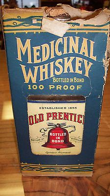 Prohibition Era Medicinal Whiskey Bottle with Box Old Prentice