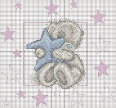 schemi punto croce orsetti nascita - Cerca con Google
