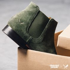 Olive Green Chelsea Boot ''Sanders''