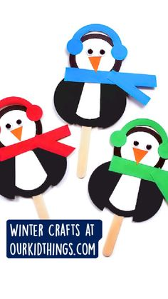Winter Activities For Kids, Winter Crafts For Kids, Winter Fun, Craft Activities, Christmas Arts And Crafts, Christmas Projects, Kids Christmas, Popsicle Stick Crafts, Craft Stick Crafts