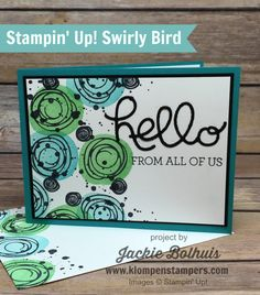 Day 2 of this series of cards made with MY FAVORITE STAMP SET in the catalog…..SWIRLY BIRD! This is actually card #8 in SWIRLY BIRD SERIES. 2 other past weeks I used this set for my CARD SERIES. If you missed those, check out my PINTEREST BOARD to see all the projects I have posted …