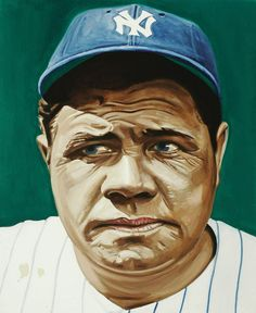 Babe Ruth portrait by Andy Jurinko