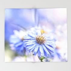 Blue Aster in LOVE  Throw Blanket