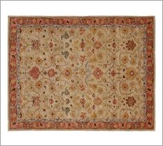 Elham Persian-Style Rug #potterybarn We just ordered this so the babe has something to crawl on in the dining room. A new year's present to ourselves.