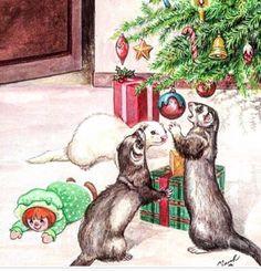 Christmas ferrets