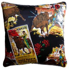 Plaza de Toros Monumental Vintage Cushion