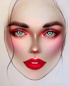 "🌟 inspired by 👑 - ""Phoenix rising"" - soft matte lip cream ""Amsterdam"" ✨… Day Makeup, Makeup Inspo, Makeup Inspiration, Beauty Makeup, Drugstore Beauty, Makeup Ideas, Bridal Makeup Looks, Indian Bridal Makeup, Wedding Makeup"
