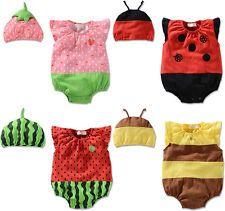 Recién Nacido Bebé Niña Niño Niño Disfraz Sombrero Gorra + Mameluco Body Frutas Bee Ropa Set