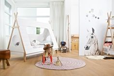 Wood, kids furniture with Scandinavian vibe