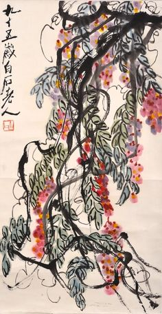 QI BAISHI (1864 - 1957), WISTERIA