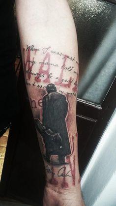 Johnny Cash Trash Polka Tattoo by Ventoforato Imperia