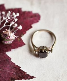 Black Diamond Bea Ring by Anna Sheffield im getting engaged to myself with this