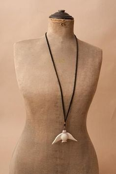 Carved Bird Necklace