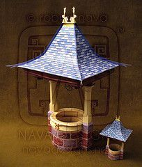 Snow White's Wishing Well Paper Model