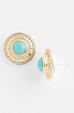 Gili Disk Stud Earrings - Lyst