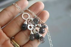 eNVe Designs- Rare Moss Amethyst and Sterling Silver Necklace