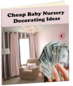 cheap baby nursery decorating ideas