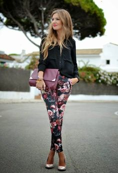 How to Chic: HOW TO WEAR FLORAL PANTS