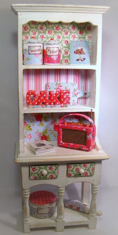 12th+Scale+Doll+House+Shabby+Chic+Dresser++by+Cherryberryminis