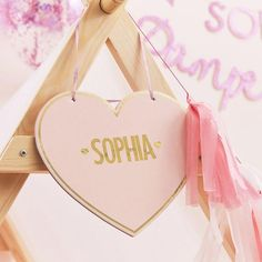 Customisable Pink Heart Kids Tent Sign | Original Party Bag Company - Ginger Ray – The Original Party Bag Company Girls Pamper Party, Sleepover Party, Spa Party, Slumber Parties, Bachelorette Parties, Glitter Balloons, Pink Glitter, Spa Birthday, Paris Birthday
