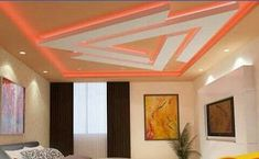 Creative And Inexpensive Useful Tips: False Ceiling Design For Bedroom false ceiling bedroom simple.False Ceiling Home false ceiling kitchen laundry rooms.False Ceiling Living Room And Dining. Fall Ceiling Designs Bedroom, Bedroom False Ceiling Design, False Ceiling Living Room, Bedroom Ceiling, Ceiling Decor, Bedroom Designs, Ceiling Lights, Ceiling Beams, Ceiling Tiles