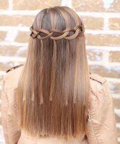 Loop Waterfall Braided Hairstyles.