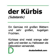 Wort der Woche: der Kürbis #Halloween #Kürbis #Deutschlernen #Sprachschule #Deutschothek Public Transport, Vienna, Four Square, Reading, New Words, Language School, Learn German, Word Reading, Reading Books
