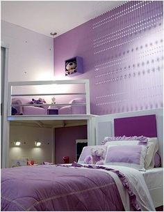 Do you want to decorate a woman's room in your house? Here are 34 girls room decor ideas for you. Tags: girls bedroom ideas, girls room decor pink, baby girl room ideas, teen room decor, teenage g Lilac Bedroom, Purple Bedrooms, Dream Bedroom, Bedroom Colors, Bedroom Styles, Purple Bedroom Design, Purple Girl Rooms, Bedroom Themes, Bedroom Ideas Purple