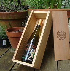 Custom Engraved Wood Wine Box Wedding Wine Box Wood by AKLaser, $65.00