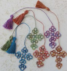 Cross bookmarks..I wonder if this would be a good starter project? I want to learn and these could be nice gifts for my family! It doesn't look too difficult except that all the ones I've looked at seem to have several ways to do tatting? ? needles,? crochet hooks & ? tatting shuttles???How to do??