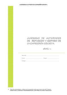 fichas para la expresión escrita en castellano. Tercer ciclo