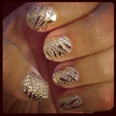 i have these nail art stickers, they're so easy yet so cute!love them
