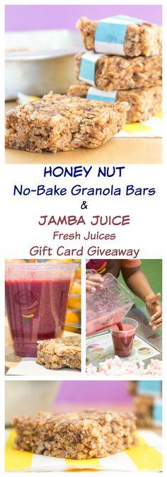 Honey Nut No-Bake Granola Bars