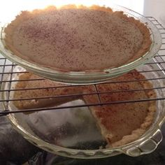 """""""My 'ouma' South African grandmother's legendary milk tart. It is a traditional South African tart that is very easy to prepare. Tart Recipes, Baking Recipes, Dessert Recipes, Desserts, South African Recipes, Ethnic Recipes, Brown Sugar Pie, Yummy Treats, Sweet Treats"""