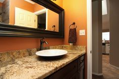 Beautiful granite counter/vanity in Northwest Austin, TX home.