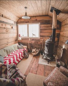 Tiny cabins are tiny homes in nature. Check out these tiny cabins—you can even rent a few. Tiny Cabins, Tiny House Cabin, Cabins And Cottages, Tiny House Living, Tiny House Design, Cabin Homes, Log Homes, Tiny Houses, Tiny House Wood Stove