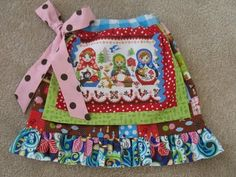 Children's Boutique Sewing Patterns: Applique Apron Skirt sewing pattern!