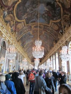 Versailles, France - Versailles Palace 1661, The Hall of Mirrors (Galerie Des Glaces) , took 10 years to build
